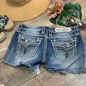 ROCK REVIVAL denim shorts cut offs size 26